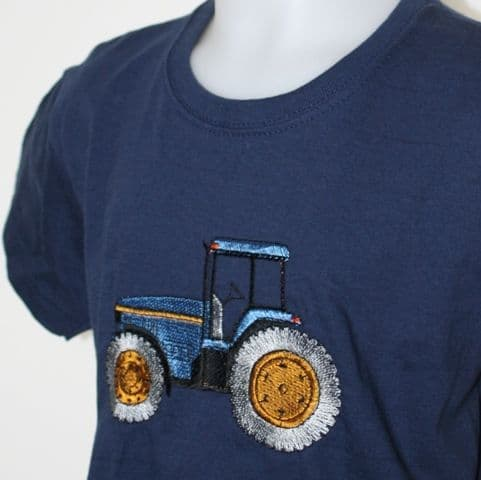 kids t-shirt with blue tractor